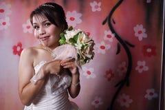 Ella es goza de la novia Imágenes de archivo libres de regalías