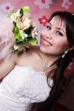 Ella es goza de la novia Foto de archivo libre de regalías