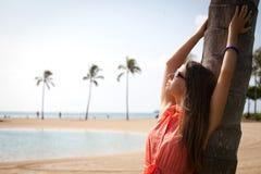Ella está el vacaciones de verano Fotos de archivo
