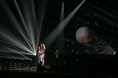 Ella Eyre. Performing live at the MOBO awards, Leeds First Direct Arena, UK Stock Photography
