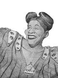 Ella Fitzgerald Caricature sketch royalty free stock photo
