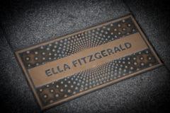 Ella Fitzgerald paving slab Royalty Free Stock Photo