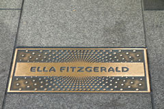 Ella Fitzgerald Plaque Stock Photo