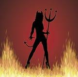 Ella fuego del diablo Foto de archivo libre de regalías