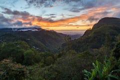 Ella Gap sunrise on Sri Lanka royalty free stock photography