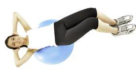 Ella hace ejercicio de algunos pilates Imagenes de archivo