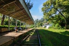 Ella railway station. This image was taken in Ella, Sri Lanka Royalty Free Stock Photography