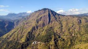 Ella Rock, paisaje del timelapse de las montañas de Sri Lanka almacen de metraje de vídeo