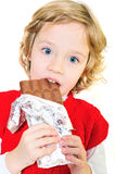 Ella tiene gusto de los dulces Foto de archivo