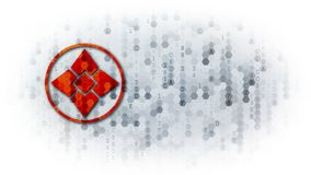 Ellaism - Web Icon on Pixelated Background. Royalty Free Stock Photo