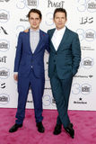 Ellar Coltrane and Ethan Hawke. At the 2015 Film Independent Spirit Awards held at the Santa Monica Beach in Santa Monica on February 21, 2015 Royalty Free Stock Photography