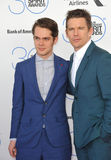 Ellar Coltrane & Ethan Hawke. SANTA MONICA, CA - FEBRUARY 21, 2015: Ellar Coltrane & Ethan Hawke at the 30th Annual Film Independent Spirit Awards on the beach Stock Photo