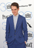 Ellar Coltrane. SANTA MONICA, CA - FEBRUARY 21, 2015: Ellar Coltrane at the 30th Annual Film Independent Spirit Awards on the beach in Santa Monica Royalty Free Stock Images
