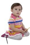 Elle aime les couleurs de crayon Photo libre de droits