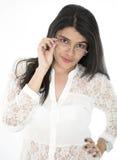 Elle est une secrétaire aimable Photographie stock libre de droits