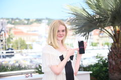 Elle Fanning. Attends the 'The Neon Demon' photocall during the 69th annual Cannes Film Festival at Palais des Festivals on May 20, 2016 in Cannes, France Royalty Free Stock Images