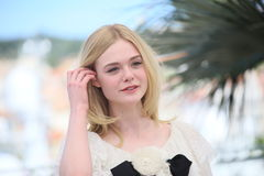Elle Fanning. Attends the 'The Neon Demon' photocall during the 69th annual Cannes Film Festival at Palais des Festivals on May 20, 2016 in Cannes, France Stock Photo
