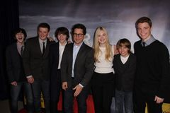 Elle Fanning, J J Abrams Joel Courtney, Stock Photography