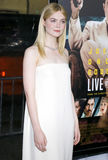 Elle Fanning. At the Los Angeles premiere of `Live By Night` held at the TCL Chinese Theatre in Hollywood, USA on January 9, 2017 Royalty Free Stock Images