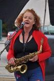 Elle Walker, World Buskers Festival. 22 January 2011, Christchurch, New Zealand Royalty Free Stock Photo
