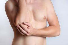 Elleboogpijn Stock Fotografie