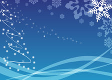 Ellegant blue christmas background Stock Photo