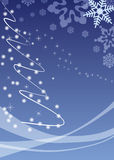 Ellegant blue christmas background Royalty Free Stock Photo