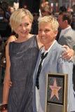 Ellen De Generes, Portia De Rossi stockfotografie