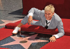 Ellen Degeneres. On Hollywood Blvd where she was honored with the 2,477th star on the Hollywood Walk of Fame. September 4, 2012  Los Angeles, CA Picture: Paul Royalty Free Stock Photos