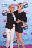 Ellen Degeneres Portia De Rossi royaltyfri foto
