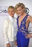 Ellen DeGeneres & Portia de Rossi Royalty Free Stock Images