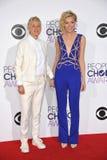 Ellen DeGeneres & Portia de Rossi Stock Images