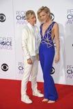 Ellen DeGeneres & Portia de Rossi Stock Photography