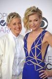 Ellen DeGeneres & Portia de Rossi Royalty Free Stock Image