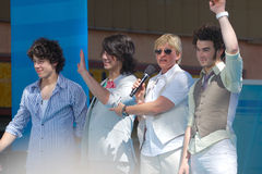 Ellen and Jonas Brothers Stock Image