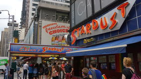 Ellen's Stardust Diner in Times Square, New York. The Diner is regarded as one of the best theme restaurants in New York owing to its singing waitstaff Royalty Free Stock Photography