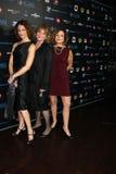 Ellen Sandweiss, Betsy Baker en Theresa Tilly bij het Voordeel van de Lancering van Halloween van de Stichting van de schrik Stock Fotografie