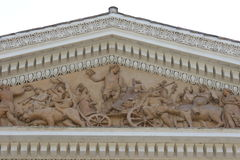 Ellenistic pediment in Rome isolated Royalty Free Stock Images