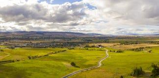 Панорама реки Ellensburg Вашингтона Yakima стоковое изображение rf