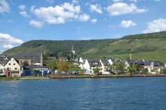 Ellenz-Poltersdorf Mosel dal, Rheinland-Pfalz, Tyskland arkivfoton