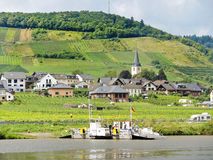 Ellenz Poltersdorf Village From Moselle River Royalty Free Stock Photos