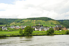 Ellenz Poltersdorf village on Moselle riverside Stock Photos