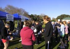 Ellersie Half Marathon participants register Stock Images