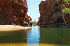 Ellery Creek Big Hole, Noordelijk Grondgebied, Australië royalty-vrije stock afbeeldingen