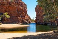 Ellery Creek Big Hole, Noordelijk Grondgebied, Australië royalty-vrije stock foto's
