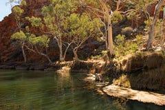 Ellery Creek Big Hole, Noordelijk Grondgebied, Australië stock foto's