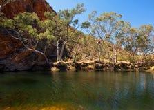 Ellery Creek Big Hole, Noordelijk Grondgebied, Australië stock afbeelding