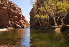 Ellery Creek Big Hole, Noordelijk Grondgebied, Australië royalty-vrije stock fotografie