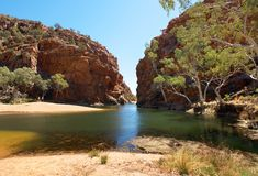 Ellery Creek Big Hole, Noordelijk Grondgebied, Australië stock foto
