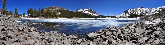 Ellery Lake på den Tioga vägen, Yosemite nationalpark Arkivbilder